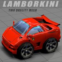 toon lamborkini car 3d model