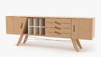 3d model of sideboard corona render