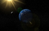 3d 3ds planet earth moon