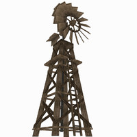 ready windmill 3d obj