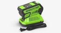 3d model leaf blower charger battery