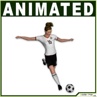 Female Soccer Player CG