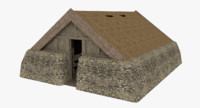 viking house interior 3d model