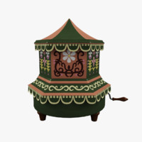 3d painted music box model