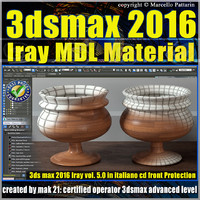 3ds max 2016 Iray MDL Material Volume 5.0 cd front