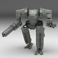 mech robot rigging 3d model