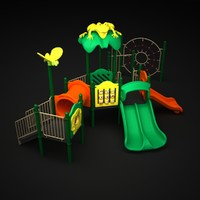 3d playground outdoor play model