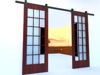 sliding barn doors 3d model