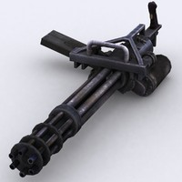 3ds max minigun m134 gun
