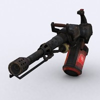 3d model - flamethrower