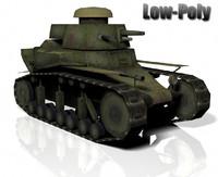 3ds max t-18 light tank 1930s