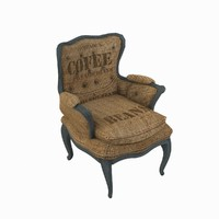 max burlap chair