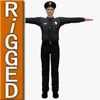 human policeman male 3d model