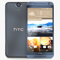htc e9 meteor gray 3d model