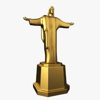 3d jesus christ statue model