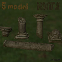 3d model broken column