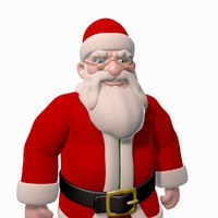 Santa Cartoon Character Rigged