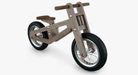 3d model balance bike