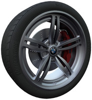 car tire wheel brake 3ds