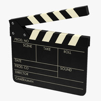 3dsmax clapboard modeled