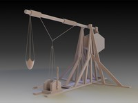 3d weight trebucket weapon tre model
