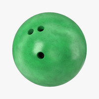 3d bowling ball green model