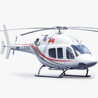 3d bell 429 sport white model