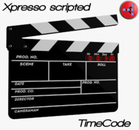 clapperboard xpresso scripted 3d max
