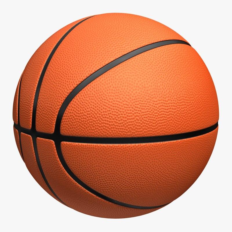 3d basketball 4 colors