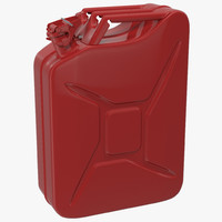 3d gas red model