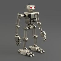 3d model robot aru-01