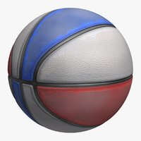 3d model basketball old 4 colors