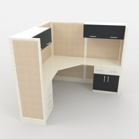 office workstation 1 3d model