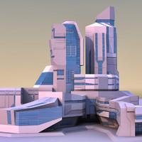 3d model of modern futuristic