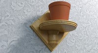wooden flower pot holder dxf