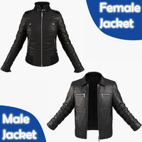 3d model pack jackets woman character