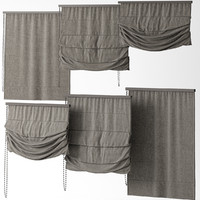 3d model blinds curtains