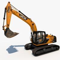 excavator js220 sc 3d 3ds