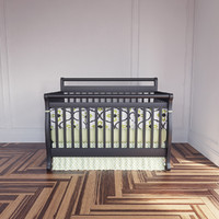Modern Crib with bumpers