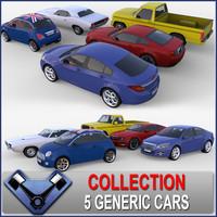 3d generic cars model