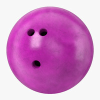 bowling ball purple 3d 3ds