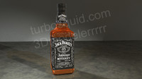 Jack Daniel's Whiskey Bottle High Res