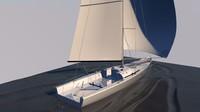 3d yacht sailing zugsailing blue