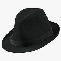 3d model of fedora hat