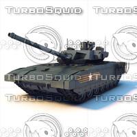 3d russian tank t-14 armata model