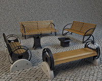 Benches and urns