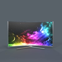 samsung suhd tv 3d model