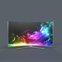 samsung suhd tv 3d model
