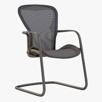 3d aeron chair harman model