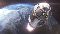 space module 3d c4d